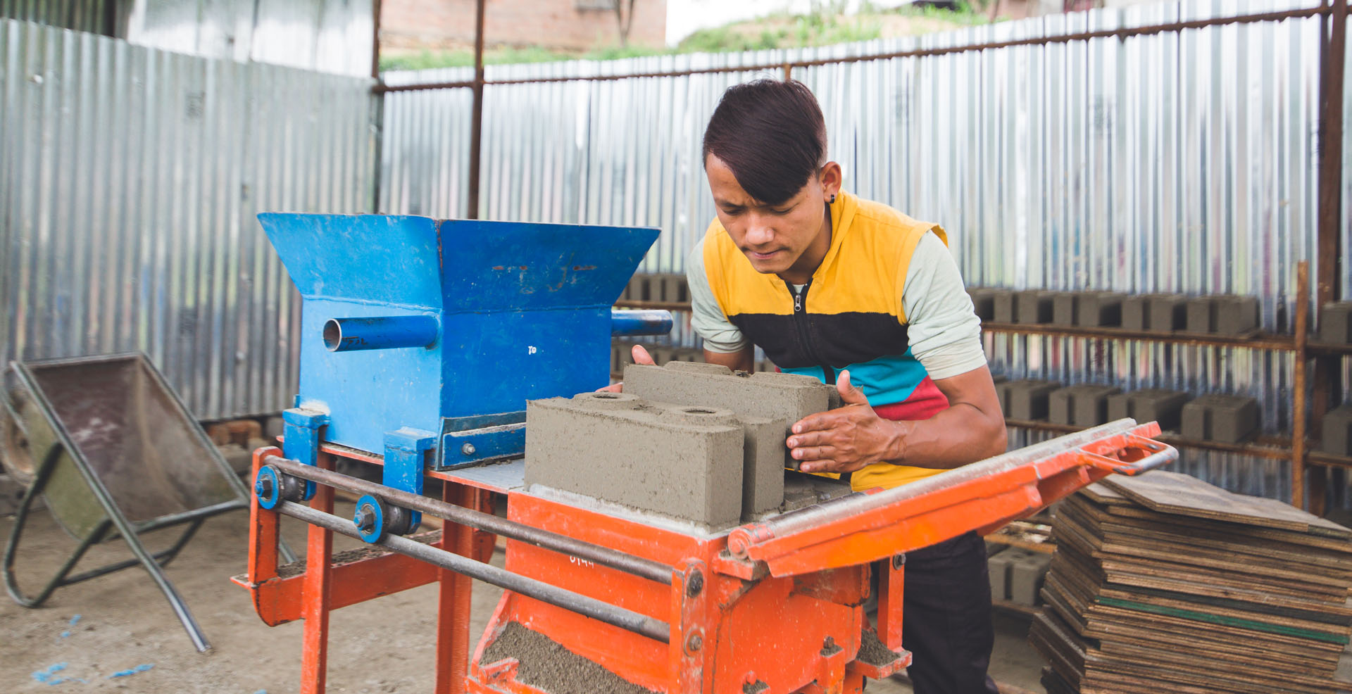 Interlocking CSEB Brick in Nepal