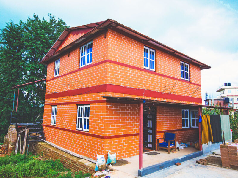 Interlocking Brick house